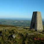 The first summit: Barbon Low Fell - view over Lunesdale