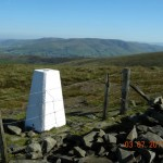 Calf Top, looking to Sedbergh and the Howgills