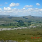Great Coum and Whernside from the Ingleborough plateau