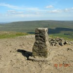 Penyghent summit - view to Fountains Fell