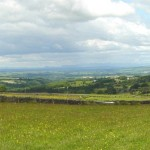 View from Higher Craggs, over Croasdale to the Lake District