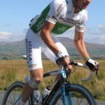 Nicholas Roche, Irish champion, and one of the lead group of three on the ascent to Tatham Fells (MW)