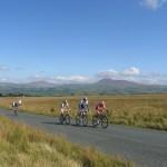 Chasing group re-entering Lancashire near the Big Stone (MW)