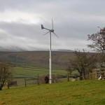 Tatham's first wind-powered electricity generation - Evance R9000 5kW turbine at Lower Lythe