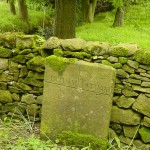 Boundary stone on Mewith lane