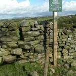 Footpath sign near Lower Thrushgill